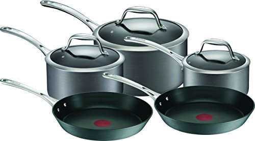 TEFAL Gourmet Anodised Cookware Set, Black, A860S544
