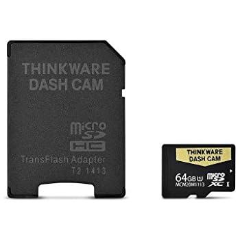 Thinkware 19-DASHCAMSD64 64GB MicroSD Memory Card For F770/X550/X350/X330/F50 Dash Cams w/Adapter