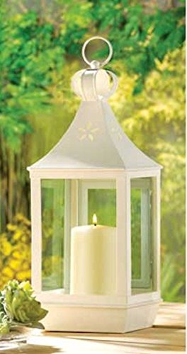 Wreath Oil Lamp (Large Cutwork Lantern Creamy White Garden Lamp)