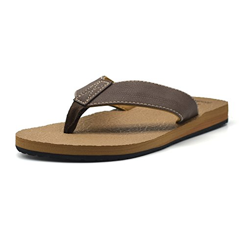 KuaiLu Yoga Mat Flip Flop with Arch Support for Men Rubber Sole Cushioned Foam Slip On Thong Sandals