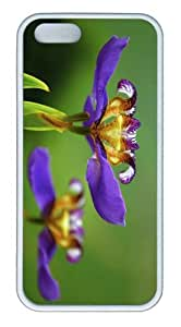 iPhone 5S Customized Unique Landscape Flowers Iris Flower New Fashion TPU White iPhone 5/5S Cases