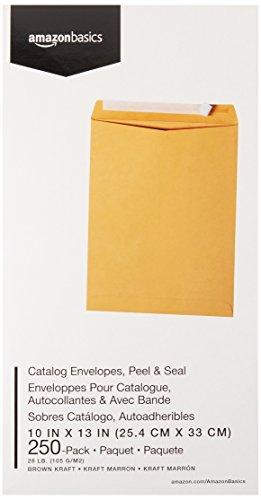 AmazonBasics Catalog Envelopes, Peel & Seal, 10 x 13 Inch, Brown Kraft, 250-Pack Photo #4