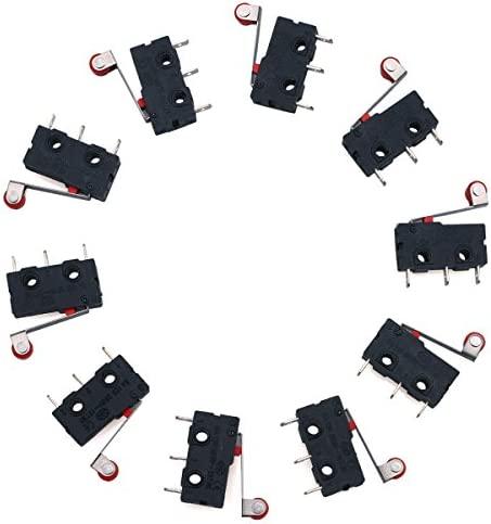 10x 1301.9301 Microswitch Tact SPST-NO positions 2 0.05A//12VDC THT aucun Schurter