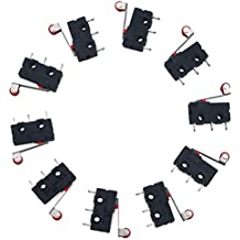 URBEST AC 250V 5A SPDT 1NO 1NC Momentary Hinge Roller Lever Micro Switches 3 Pins 10 Pcs