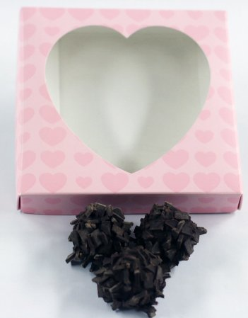 Scott's Cakes Chocolate Vodka Balls in a 1 Pound Pink Heart (Heart Vodka)