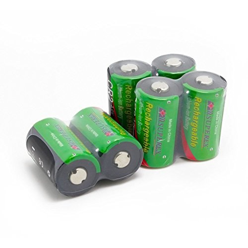 SUPEREX® 6 PCS of 3V 400mAh CR2 Battery 15270 15266 Rechargeable LiFePO4 Battery