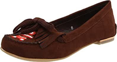 Miss Me Women's Kate-5 Beaded Moccasin,Brown,11 M US