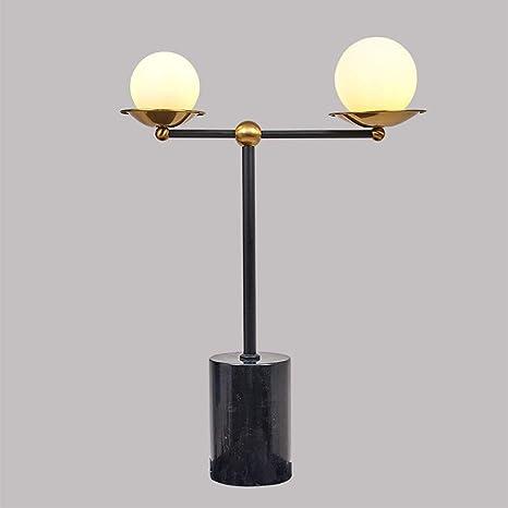 Lámpara de mesa, lámpara de mesa de hierro forjado de la ...