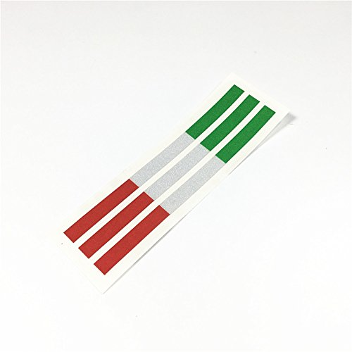 DXYMOO 2lots National Flag Italy Motorcycle Helmet Car Sticker Decal Auto Exterior Accessories 120x8mm