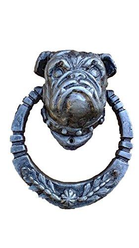 Bulldog Door Knocker (Silver)