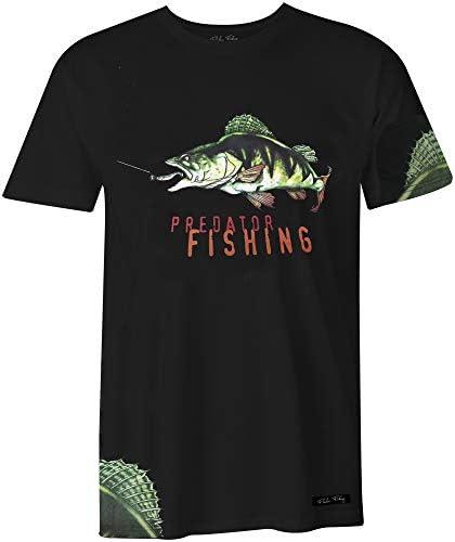 Fladen Fishing - Camisetas de Pesca (100% algodón), diseño dinámico de Perca, Ideal para Aquellos Que aman a los Peces Depredadores: Amazon.es: Deportes y aire libre