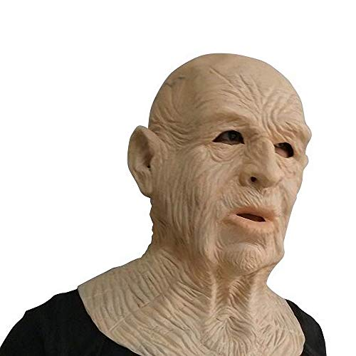 Realistic Old Man Mask Latex Full Head and