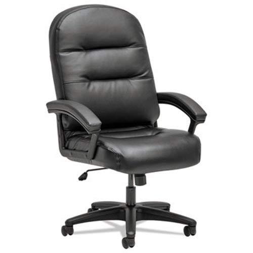 - Pillow-Soft 2090 Series Executive High-Back Swivel/tilt Chair, Black, Leather
