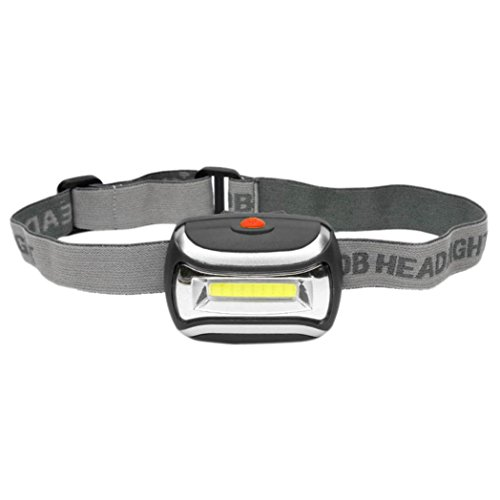 GBSELL Adjustable Angle COB Outdoor LED Head Lamp Torch 5W Headlight 600 Lumens Bright (Black)