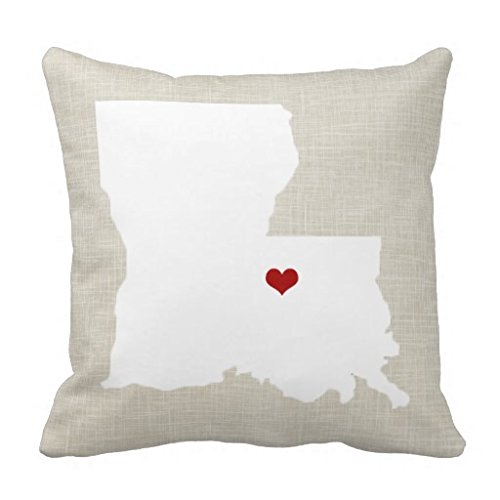 Louisiana State 1818 pillow Case Faux Linen Personalized