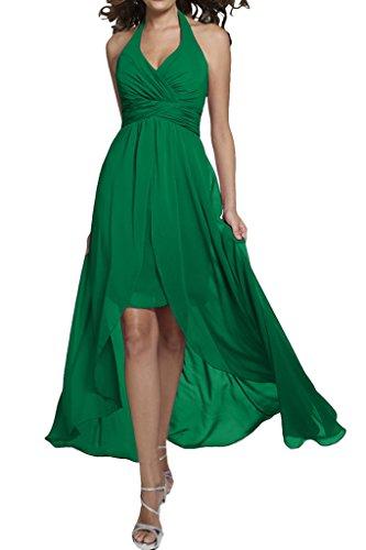 Neckholder Grün Missdressy Hi Lo Abendkleid Damen Chiffon Faltenwurf Lang 68Aqxw8
