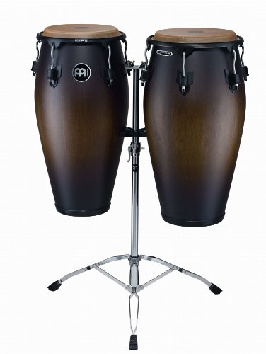 - Meinl Percussion MCC-SET-ATB-M Marathon Classic Series Conga Set 11-Inch and 11.75-Inch, with Double Braced Tripod Stand, Antique Tobacco Burst