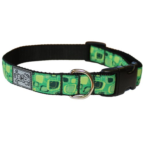 RC Pet Products 1-Inch Adjustable Dog Clip Collar, Large, Green Giant, My Pet Supplies