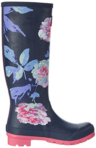 Joules JoulesWellyprint - Botas de Lluvia Mujer Azul (French Navy Beau Bloom)