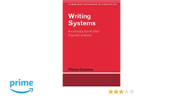 Coulmas Writing Systems Pdf