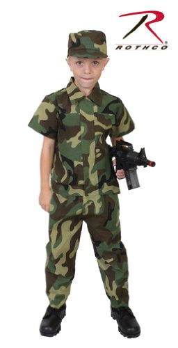 Rothco Kids Camouflage Soldier Costume, 3-5 Year -