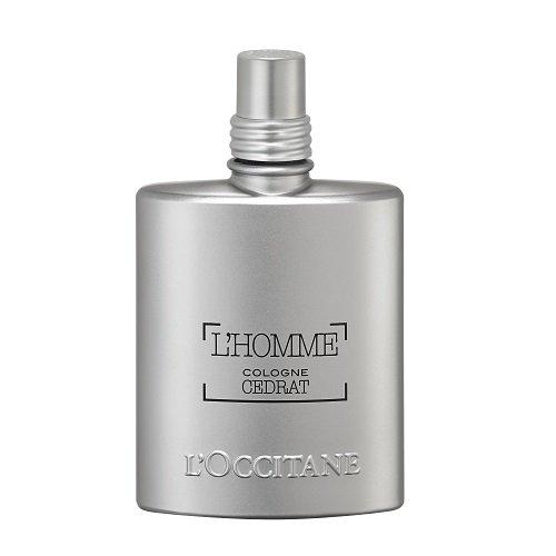 L'Occitane Zesty & Aquatic L'homme Cologne Cedrat Eau De Toilette for Men, 2.5 Fl. oz.
