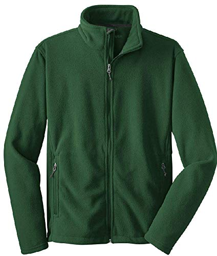 (Joes USA - Youth Soft and Cozy Fleece Jacket Forest Green, Youth Large)
