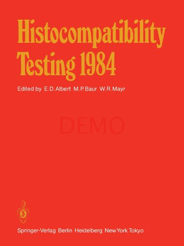Histocompatibility Testing 1984: Report on the Ninth International Histocompatibility Workshop and Conference Held in Munich, West Germany, May 6–11, 1984 and in Vienna, Austria, May 13–15, 1984