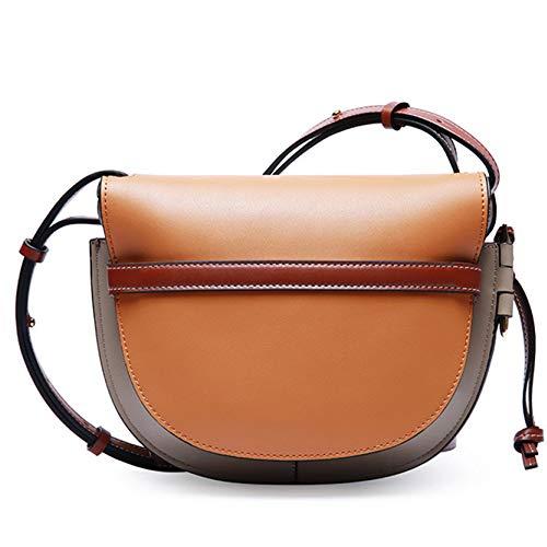 Donna crossbody Fashion Brown Bag Tote spalla sella Borsetta wqwZ7gzB