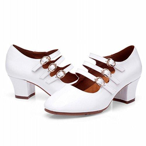 BYLE Tobillo Sandalias de Cuero Zapatos de Baile Modern Jazz Samba Presidente Zapato de Baile Plaza Adulto Zapatos de Baile Zapatos de tacón 39