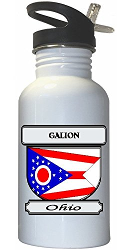 galion-ohio-oh-city-white-stainless-steel-water-bottle-straw-top