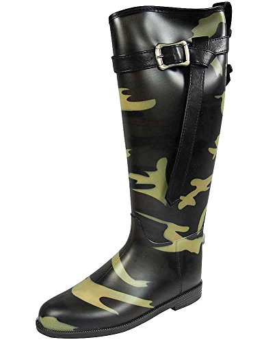 Dirty Laundry by Chinese Laundry Women's Riff Raff Rain Boot, Camouflage Pvc,  7 M US Dirty Camo