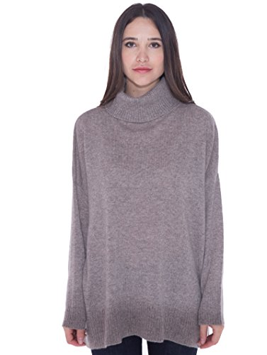 cashmere 4 U 100% Cashmere Turtleneck Oversize Sweater Pullover For Women by cashmere 4 U (Image #1)