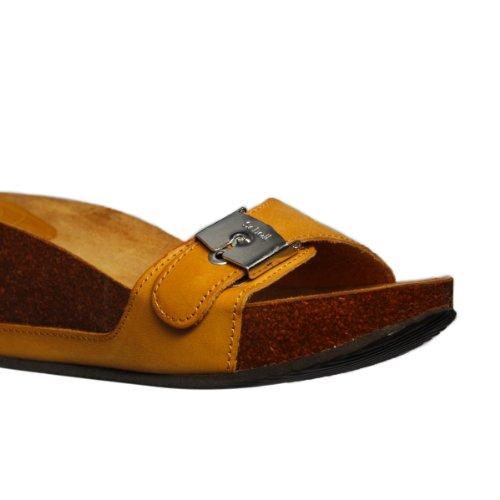Scholl - Sandalias de vestir de cuero para mujer negro negro marrón - canela