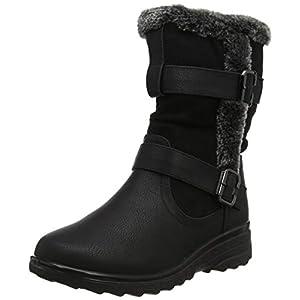 Cushion Walk Fur Lined Soft Lightweight Flexible Zip Buckle Ladies Boots UK 3-8