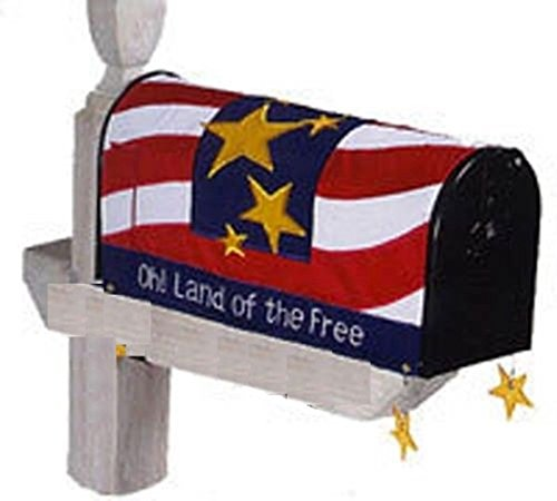 Oh! Land Of The Free Patriotic Mailbox Cover by Evergreen