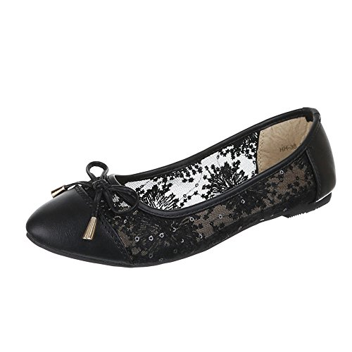 Womens Shoes, Ballerinas HH 10/Light and airy Black