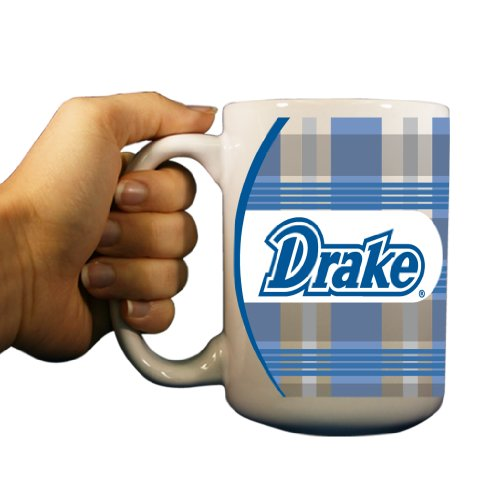 (VictoryStore.com Ceramic Mugs - Drake University, Plaid Background Coffee Mug, 15oz)