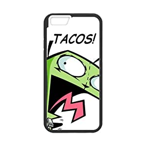 "ROBIN YAM Cute Cartoon Alien Invader Zim Gir Hard Flexible Slim Rubber Gel Silicon Cover Case for iPhone 6 4.7"" -DRY166"