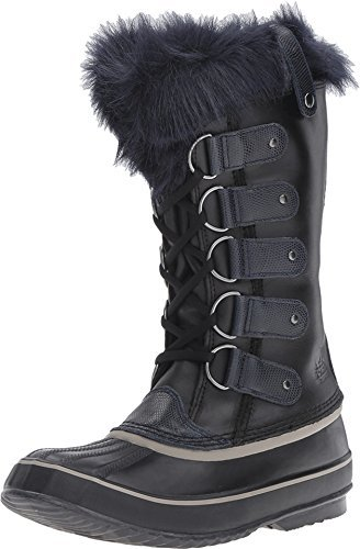 SOREL Women's Joan Of Artic Obsidian Black/Collegiate Navy Boot (Of Boots Artic Joan)