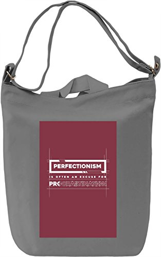 Perfectionism Borsa Giornaliera Canvas Canvas Day Bag| 100% Premium Cotton Canvas| DTG Printing|