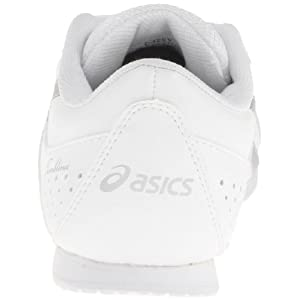 ASICS Tumblina GS Cheerleading Shoe (Toddler/Little Kid),White/Silver,1 M US Little Kid