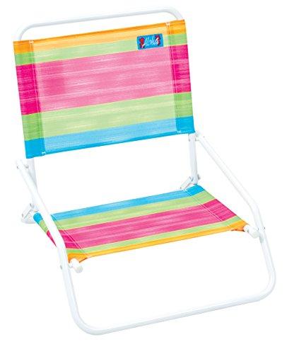 Aloha Sand Chair - Bright Stripe Flamingo