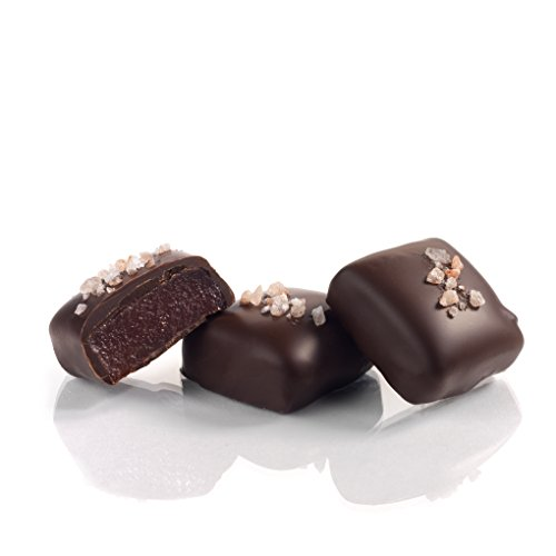 Organic Vegan Habanero Pink Salt Caramels in 72% Dark Chocolate, 16.8 ounces (6 packs - 6 pcs/pack) by Amella (Image #1)