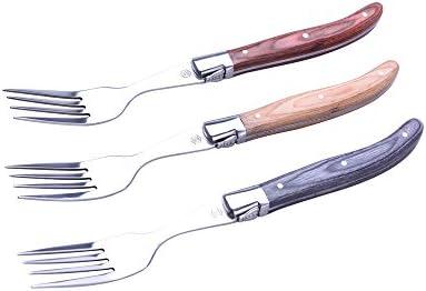 LAGUIOLE - Juego de 6 horquillas - madera, acero inoxidable - Marrón