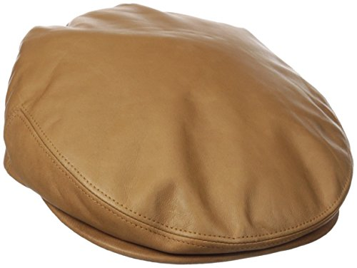 (Kangol Men's Italian Leather Cap, Tan, Small)