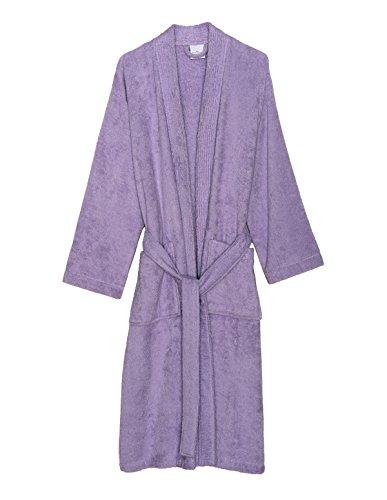 TowelSelections Women's Robe Turkish Cotton Terry Kimono Bathrobe Medium/Large Pastel Lilac