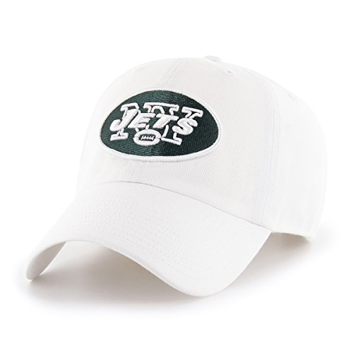 OTS NFL New York Jets Male Challenger Adjustable Hat, White, One Size