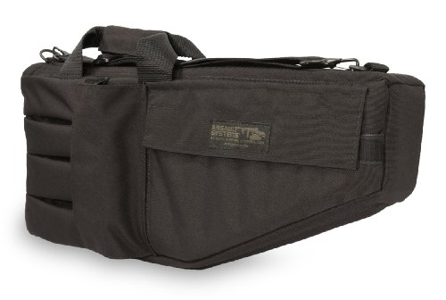 (Elite Survival Systems ELSSMGC-B-2 Submachine Uzi Short Barrel H&K Mp5A3 S&W M76 Gun Case, Black, 22.5