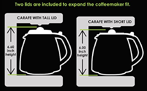 CAFÉ BREW COLLECTION Universal 12 Cup Replacement Carafe for Cuisinart, Mr. Coffee, Bunn, etc by CAFÉ BREW COLLECTION (Image #3)